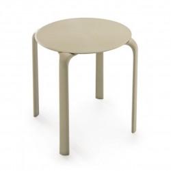 LACAPELLE Table basse ronde pour usage extérieure  et intérieur.