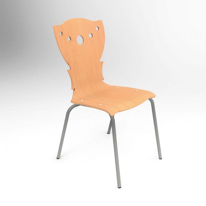 naturel de collectivitémonocoque hêtre vernis4 pieds Chaise dCxBeo