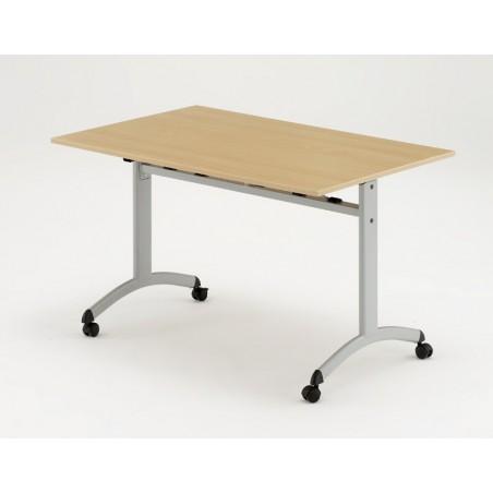 LOCA - Table rabattable à roulettes 180 X 80 cm