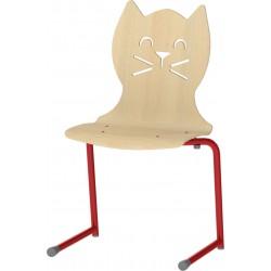 LOT DE 10 CHAISES Coque en forme de chat avec appui sur table.