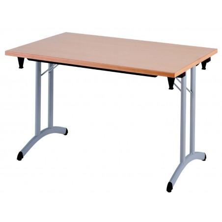LAMBRES LIGHT - Table pliante 140 x 80 cm, plateau allégé