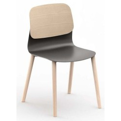 SEGNY - Chaise 4 pieds bois design