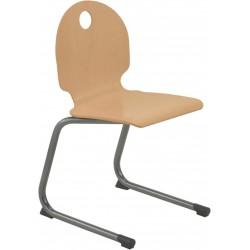 LAC Lot de 10 chaises avec coque bois et piétement appui sur table
