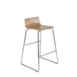 NISK Chaise haute avec coque en hêtre multipli
