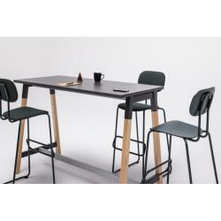 MIKOLOW Table haute avec des pieds en bois