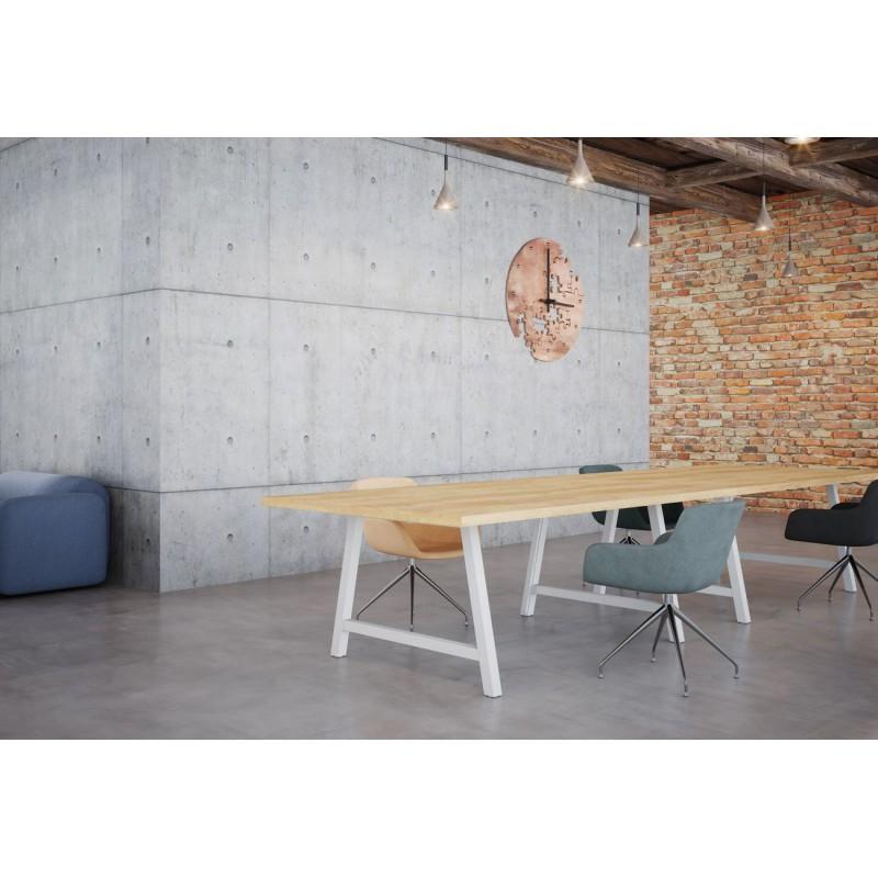 BEZAC - Table de réunion style industriel L.200 X P.120 cm
