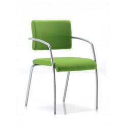 FITOU - Chaise visiteur rouge, orange, verte et autres coloris